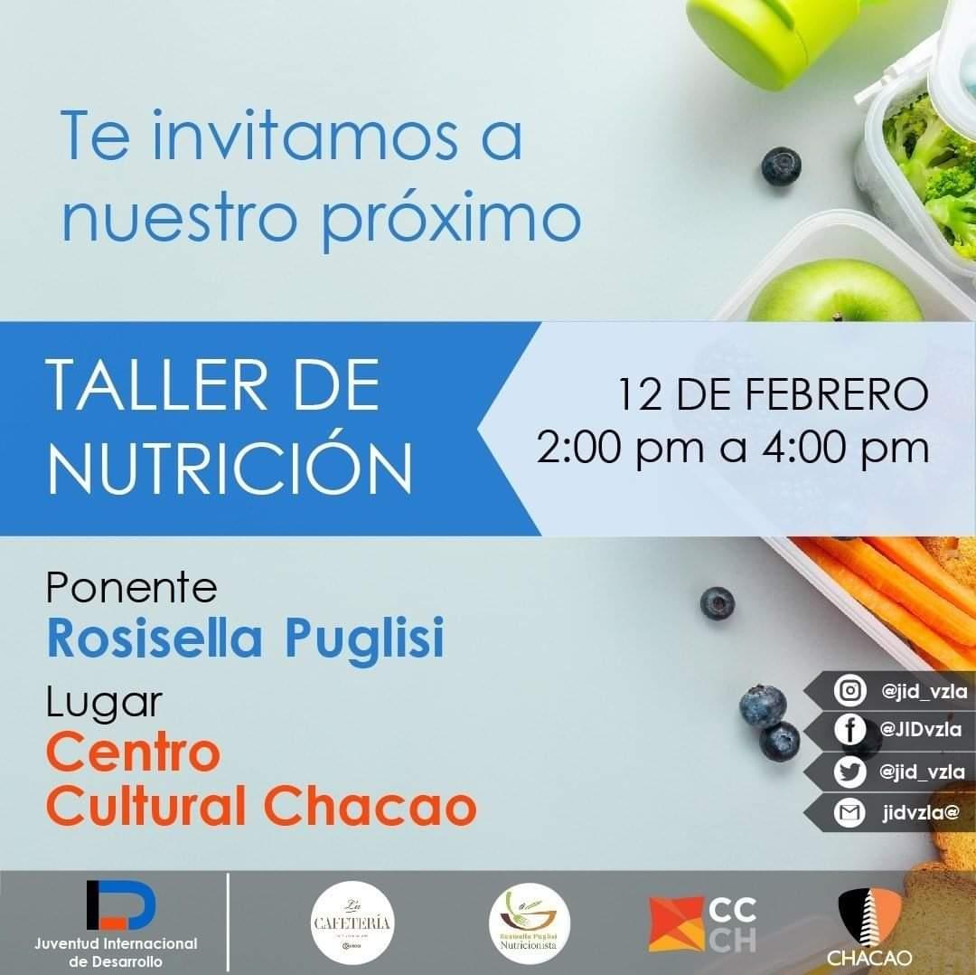 Taller de nutrición en Caracas
